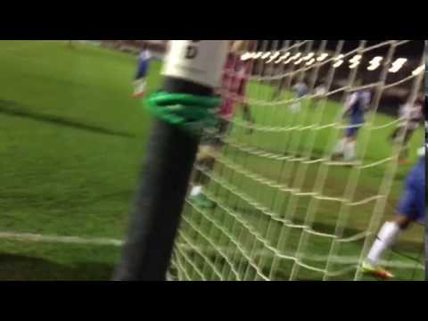 Bradbrook opens the scoring for Dartford as Margate cheating keeper flaps at thin air