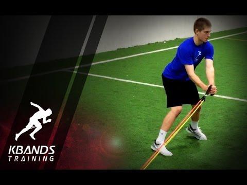 Baseball Rotational Hitting Drill | Resisted Hitting Leg Drive Drill