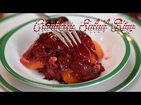 Cranberry Salad Ring | Christmas Cooking | Jello Mold