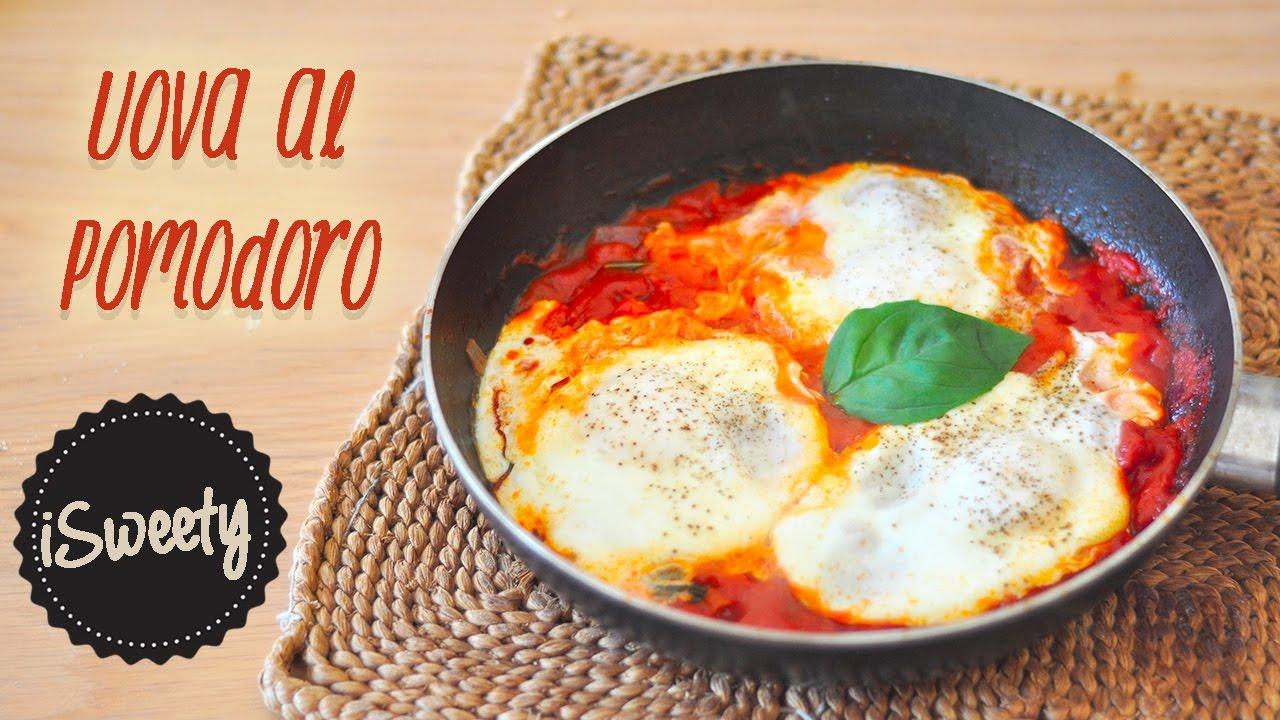 Ricetta Uova Con Pomodoro.Uova Al Pomodoro In Padella Ricetta Uova Al Purgatorio Super Veloce Fr Sub Youtube