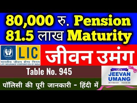 LIC jeevan umang plan 945 in hindi, New plan 2020, with ...