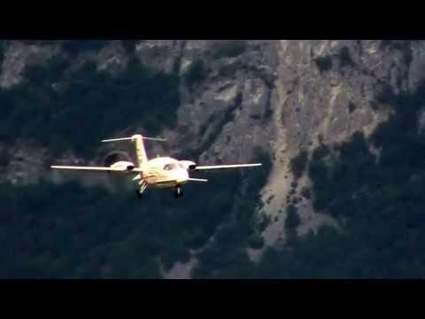 Aircraft Piaggio P180 Avanti - N79CN - Sion airport -Valais Switzerland 6 july 2013