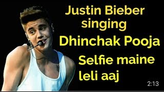 Justin Bieber singing Selfie maine leli aaj | Live Concert | Canada 2017