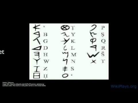 Phoenician Alphabet, not greek (FOPO-YUNANISTAN) ALPHABET