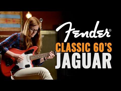 Fender Classic '60s Jaguar Lacquer Fiesta Red Guitar Demo