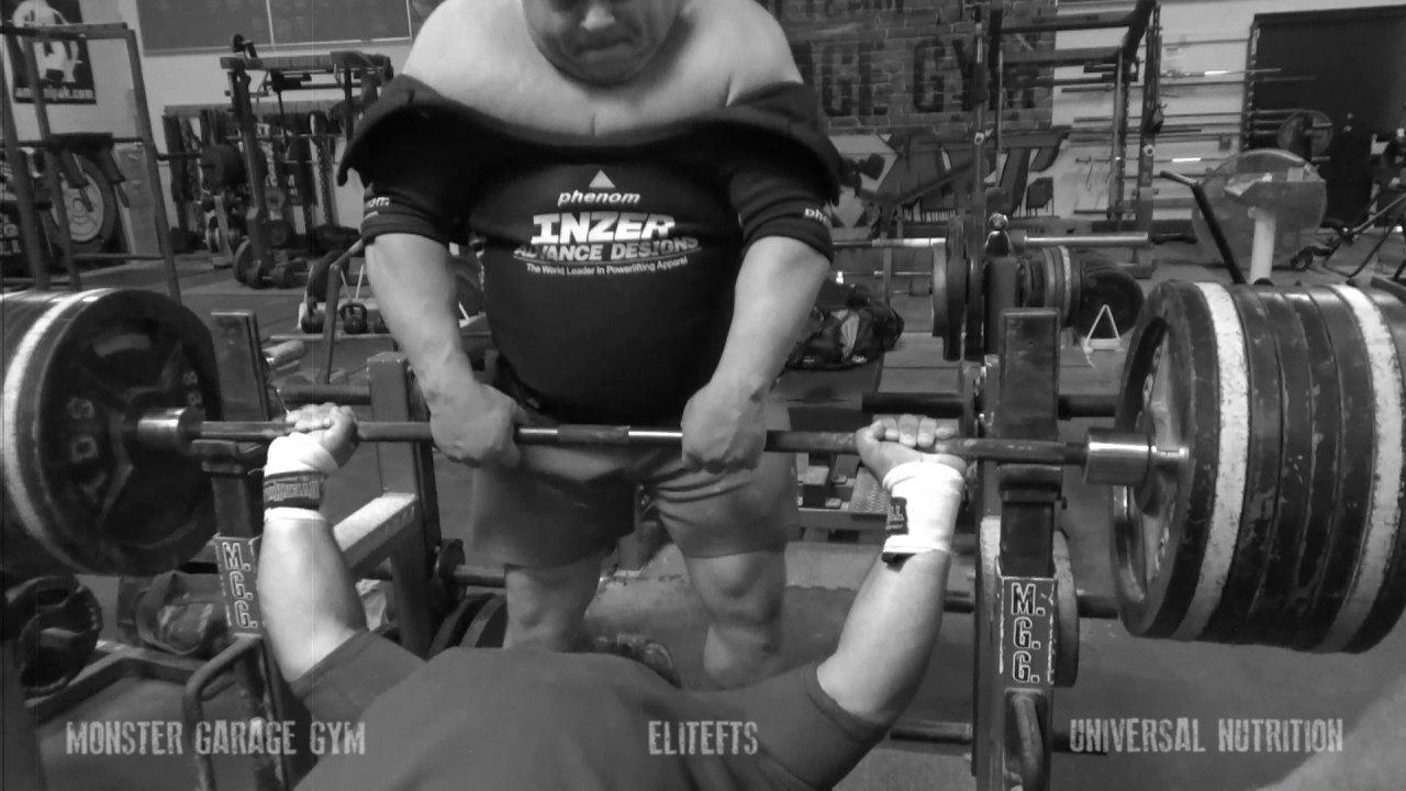 Relentless bench training part i: monster garage gym youtube