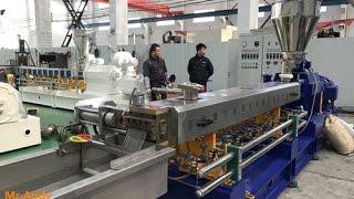 Polyethylene Extrusion Technology Parallel Twin Screw Plastic Granules Making Machine