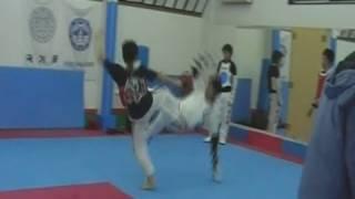 テコンドー全日本トップクラスの練習風景 taekwondo training