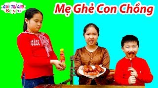 Trò Chơi Mẹ Ghẻ Con Chồng ❤ Con Muốn Ăn Xúc Xích ❤ Giải trí cho Bé yêu