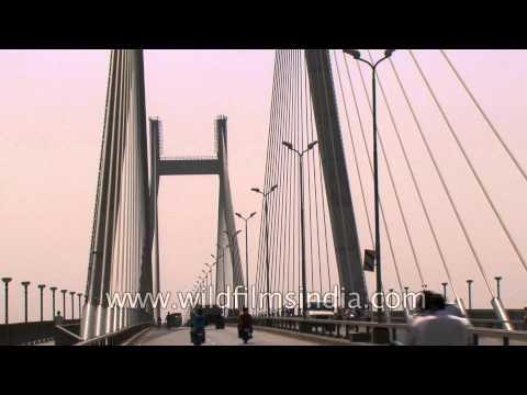 Driving over Naini Bridge, Allahabad