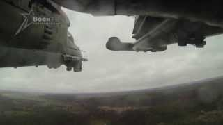 Вертолет Ми-24. Полет и боевые пуски (Mi-24 Helicopter Flights and Firing)(Mi-24 Helicopter Flights and Firing Съемки экшн-камерами пары вертолетов Ми-24 от момента взлета до ухода на обратный курс..., 2014-03-21T03:27:04.000Z)