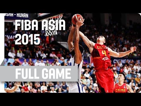 India v China - Quarter-Final - Full Game - 2015 FIBA Asia Championship