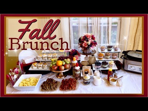 How To Do A FALL BRUNCH & OATMEAL Bar BUFFET