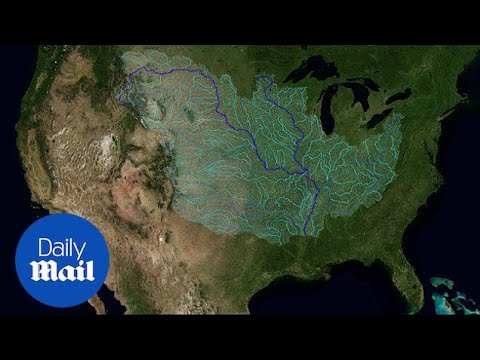 Stunning Animation Shows Every River That Feeds The Mississippi - Daily Mail