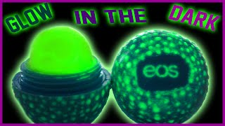 diy glow in the dark eos lip balm   easy non toxic   perfect for parties