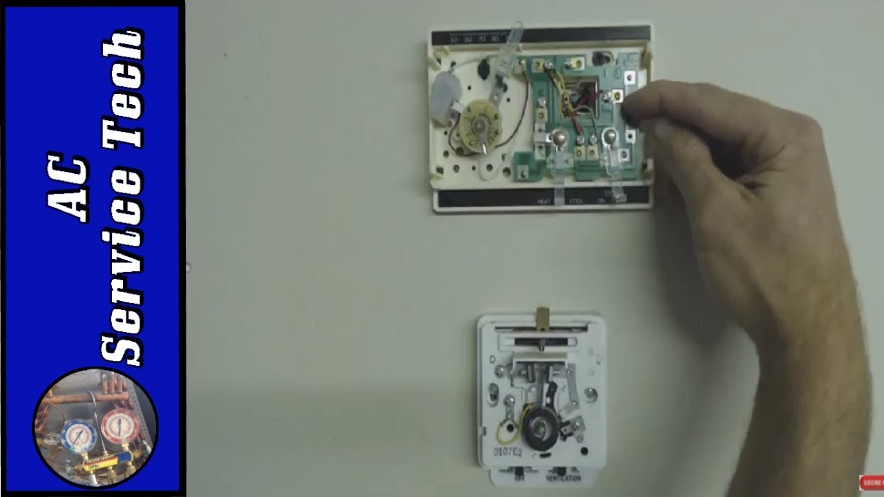 replacement of 2 thermostats with 1 new one detailed heat and ac tstat wiring installation  [ 1280 x 720 Pixel ]