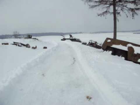 World War II Vehicle Graveyard In Belarus