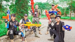 LTT Nerf War : Coulpe SEAL X Warriors Nerf Guns Fight Criminal Group Dr Lee CrossFire