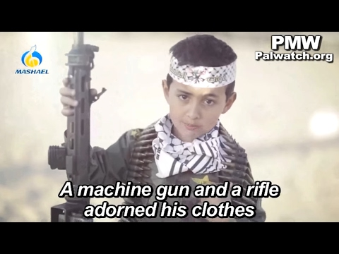 Child soldier encourages violence against Israel in Fatah Facebook ‎music video