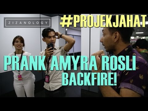 ZIZANOLOGY | PRANK AMYRA ROSLI BACKFIRE FT. JAA TV [#PROJEKJAHAT]