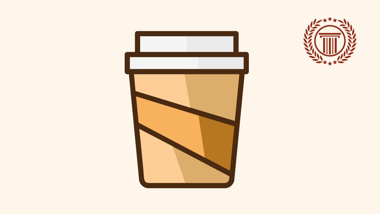Logo Design Illustrator How To Make Drink Coffee Cup