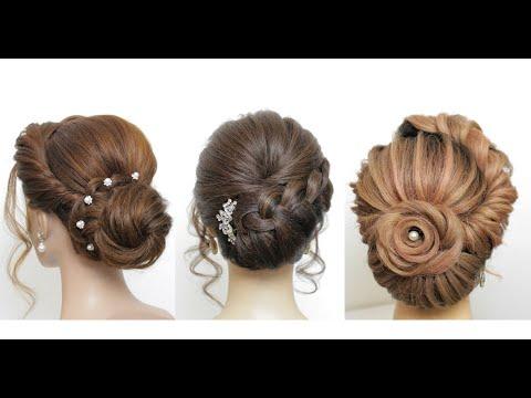 3 Прически для длинных волос  на выпускной, свадьбу.