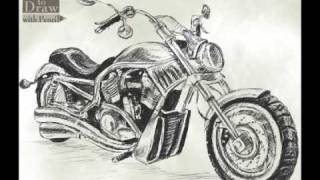 How To Draw Bike (Harley-Davidson V-ROD)