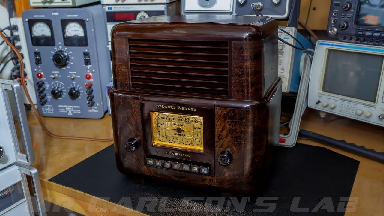 1940's Stewart Warner Tube Radio Troubleshooting and Repair