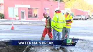 Water main break closes section of Auburn Blvd