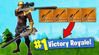 The SNIPER ONLY Challenge! [Fortnite - Battle R...