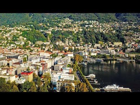 Drone Views of Switzerland in 4k: Locarno & Maggia delta