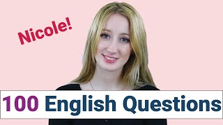 100 Common English Quesтions with NICOLE | How to Ask and Answer Question in English