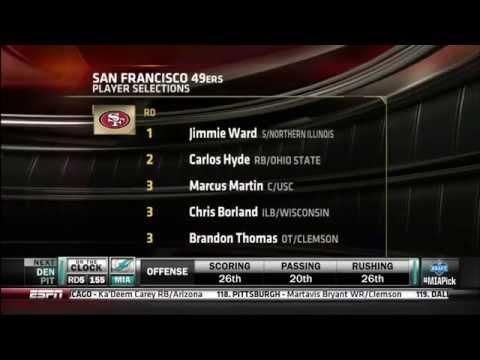 San Francisco 49ers Draft 2014