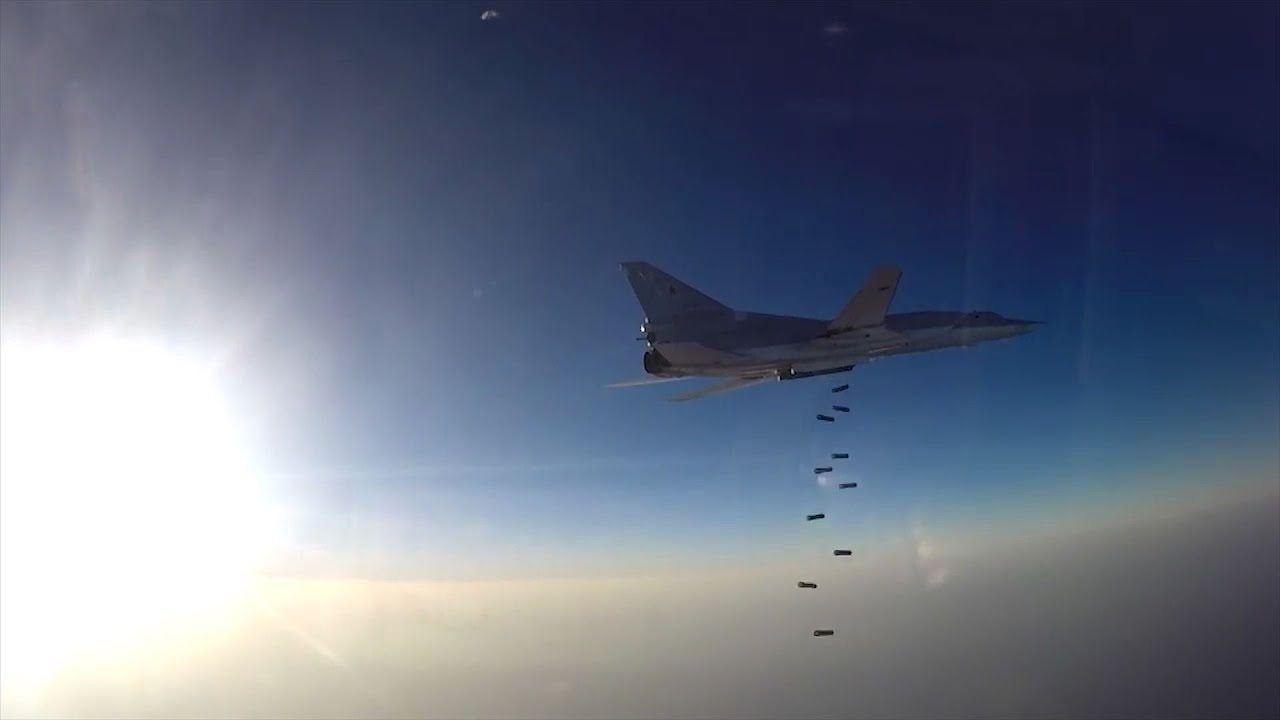 Russia Releases In-Flight Footage Of Its Jets Bombing Islamic State Territory