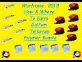 Warframe - How To Farm - Tellurium, Polymer Bundle & Gallium   - 2018