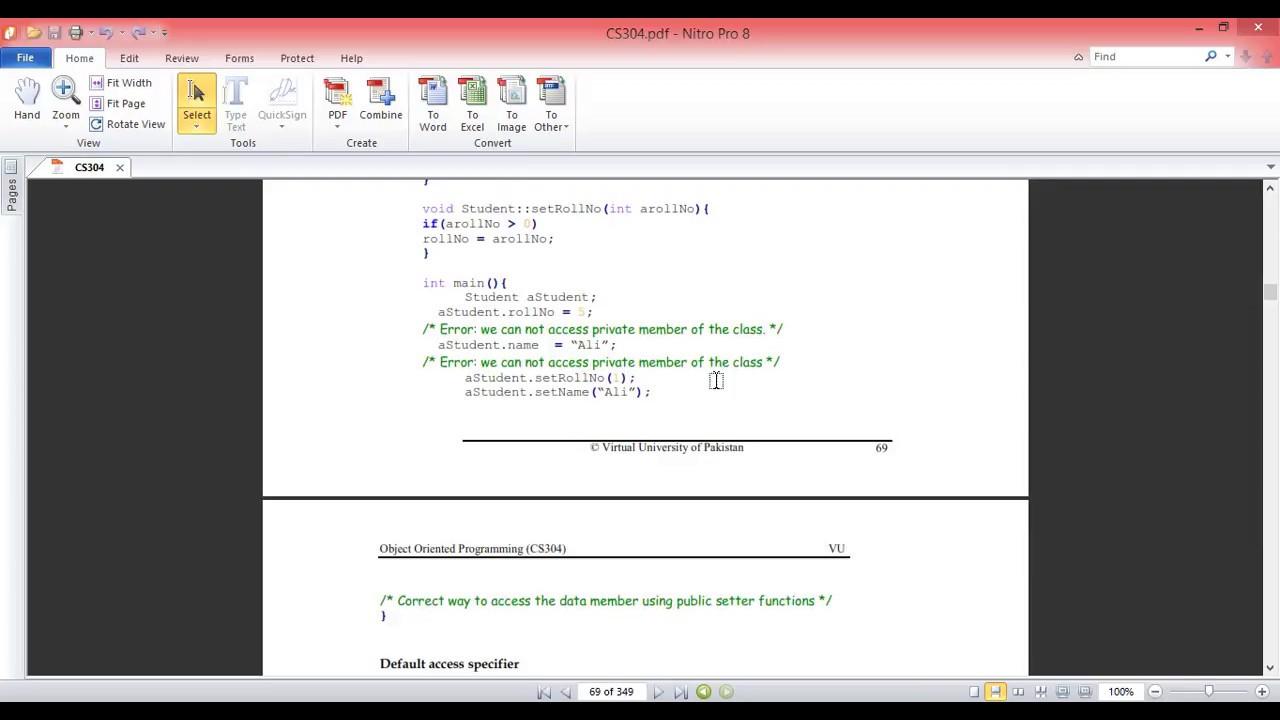 CS304 OOP C++ Lecture 7| Urdu/Hindi