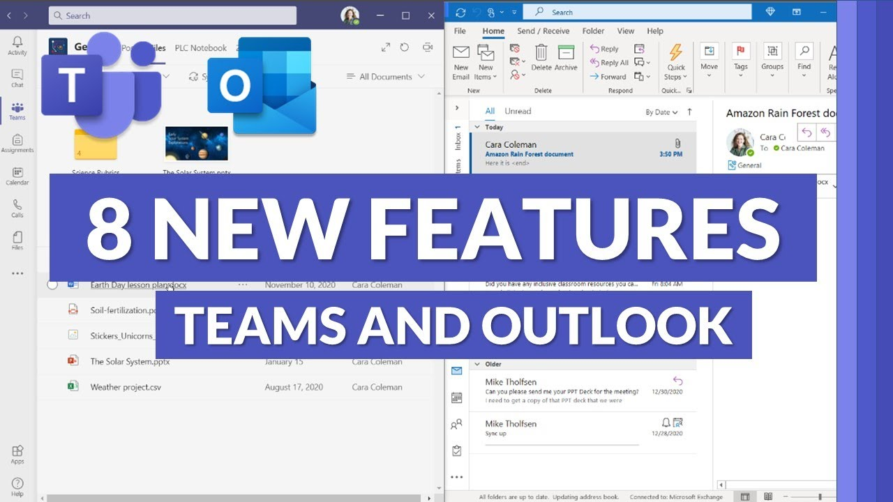 8 new features in Microsoft Teams and Outlook Integration for 2021