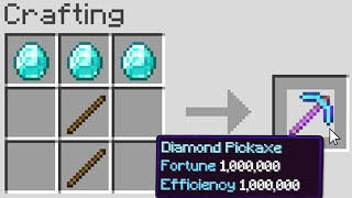 Minecraft, But Crafting Gives OP Enchantments...