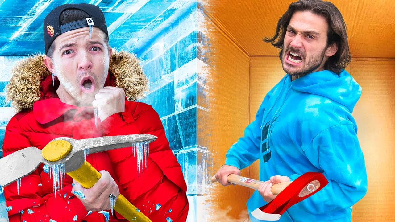 Download ESCAPING 100 Layers of ICE vs CARDBOARD!