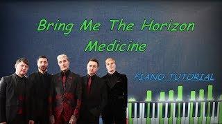 Bring Me The Horizon - Medicine piano cover, tutorial, chords, remix, karaoke, instrumental, BMTH Video