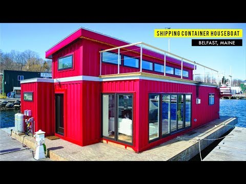 Container Houseboat In Belfast, Maine By SnapSpace Solutions