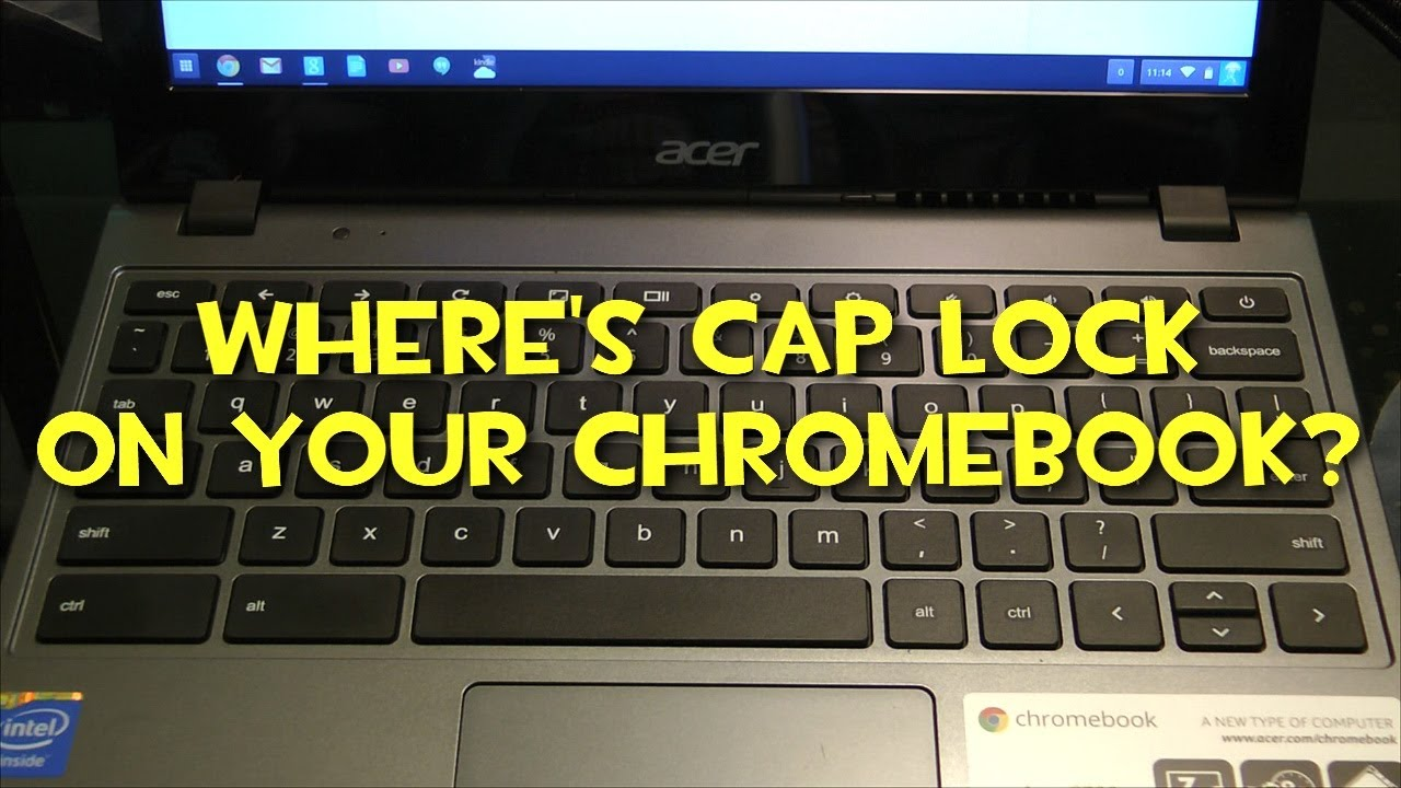 Where Is Caps Lock On My Google Chromebook Youtube