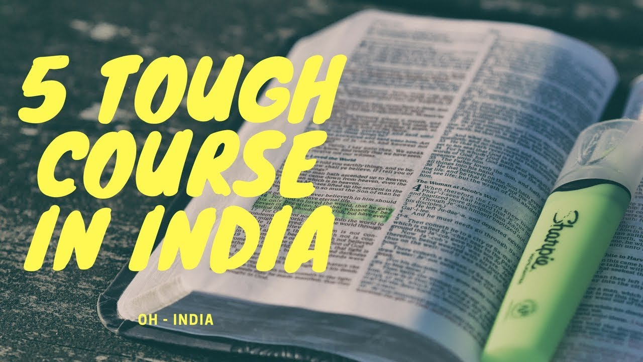 TOP 5 TOUGHEST COURSE IN INDIA