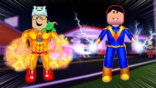 ROBLOX: MY MOTHER AND I IN: WE TURN SUPERHEROES AND BATTLE WITH VILLAINS!! -Play Old man