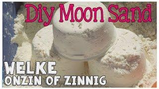 DIY Moon Zand WELKE ONZIN OF ZINNIG #10 (soft dough, Moon Sand)
