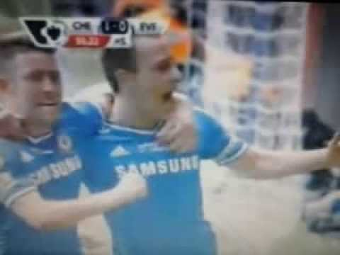 GOAL (John Terry) Chelsea 1 - 0 Everton Campeonato Inglês 22-02-2014
