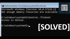 How To Fix Bootrec /fixboot Access is Denied During Fix Boot Configuration (2 Fixes )