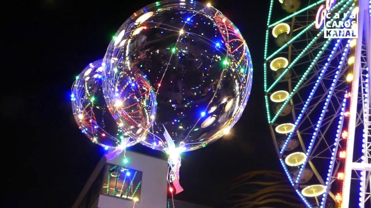duisburger weihnachtsmarkt i fliegende led ballons youtube. Black Bedroom Furniture Sets. Home Design Ideas