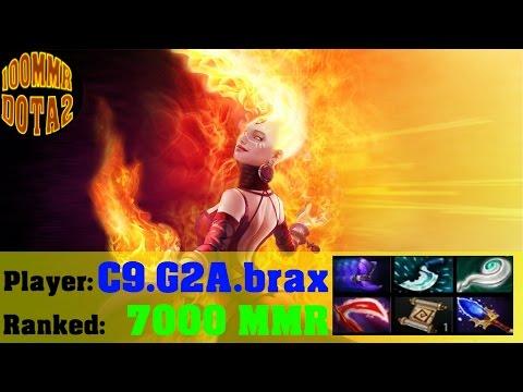 Dota 2 Heroes Lina Gameplay / C9.G2A.brax 7000 MMR