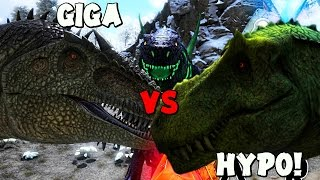 ARK Survival Evolved - THE ISLE HYPO REX VS ARK GIGA, ZILLA & REX! ( Modded Gameplay )
